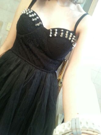 dress black studded dress studded dresses short dress