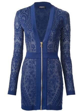 dress mini dress mini knit blue