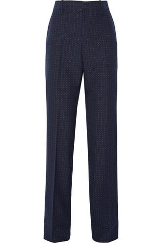 pants cotton wool navy