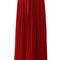 Chiffon pleated maxi skirt in red - retro, indie and unique fashion