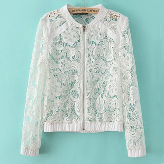 jacket crochet hollow out lace jacket white jacket