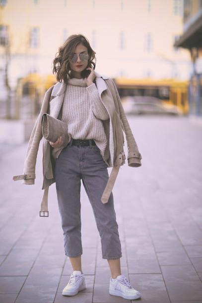 venka vision blogger jacket sweater jeans shoes bag