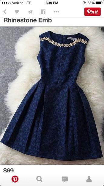 dress dress navy homecoming