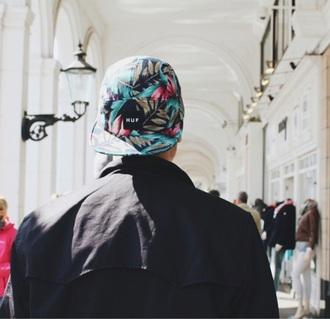 hat boy menswear huf snapback cap hawaiian printed snapback