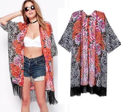 Pretty wild floral leopard kimono · nouveau craze · online store powered by storenvy