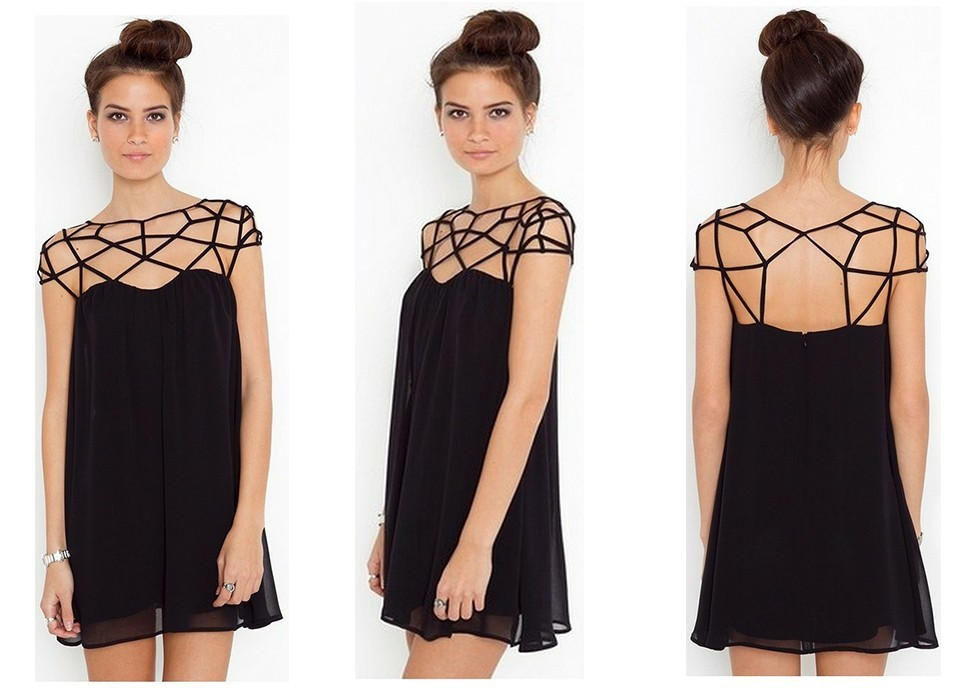 Free Shipping 2013 New Fashion Women's Dress Sexy Little Black Dress Size S M L XL XXL-in Dresses from Apparel & Accessories on Aliexpress.com