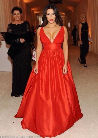 dress ball gown kim kardashian dress