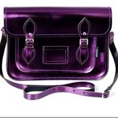 bag,metallic,17inch,school bag,satchel bag,plum,purple