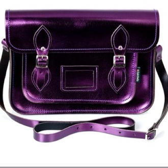 bag metallic 17inch school bag satchel bag plum