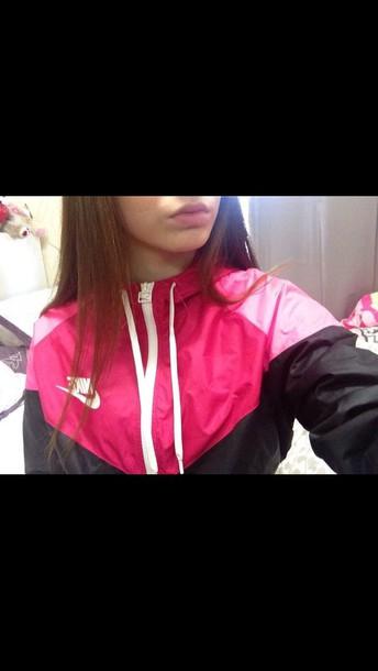 169554bb4d jacket nike jacket pink nike nike windbreaker nike windrunner sweater nike  hoodie nike sweater pink sweater