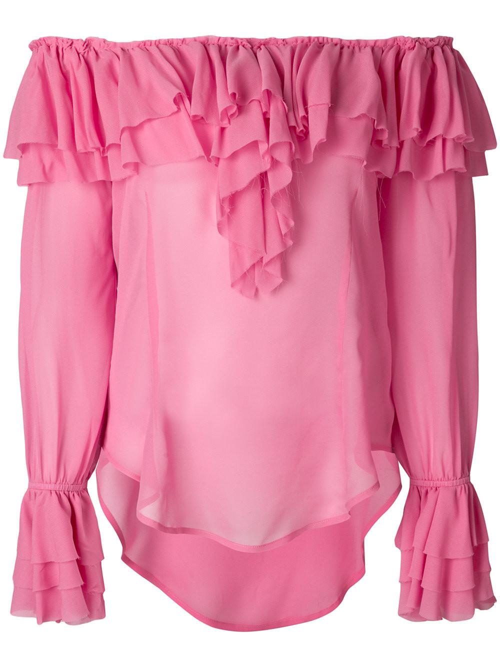 Купить Блузку С Рюшами