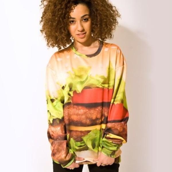 shirt hamburger