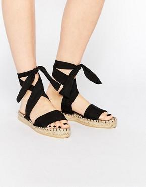 ASOS JASMINE Tie Leg Espadrille Sandals at asos.com