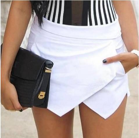2014 fashion women spring summer irregular casual white