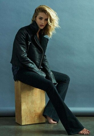 pants flare pants flare rosie huntington-whiteley jacket shirt editorial