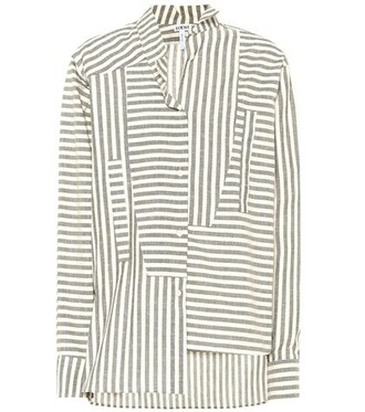 shirt oversized cotton grey top