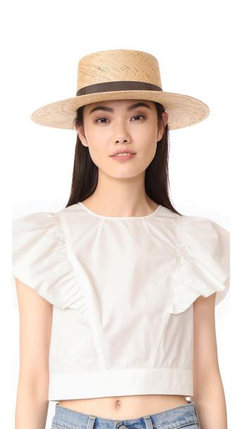 Janessa Leone Jade Bolero Hat - Natural