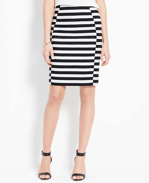 Striped Jacquard Skirt | Ann Taylor