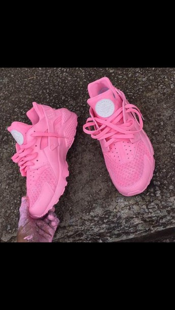 shoes huarache hot pink nike low top sneakers huarache nike shoes pink sneakers