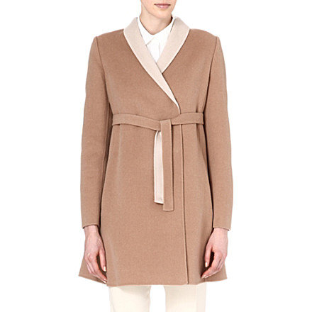 MAX MARA STUDIO - Belted wool coat | Selfridges.com
