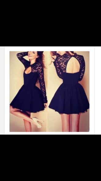 dress black dress lace top skater dress