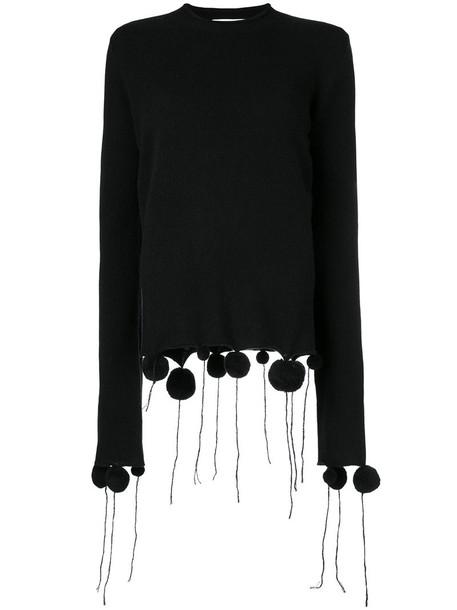 PORTS jumper women black wool sweater