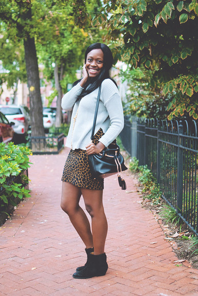 bag animal print fall outfits blogger alicia tenise jewels