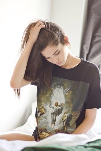 black model shirt graphic hairstyles jesus heaven brown hair jesus shirts