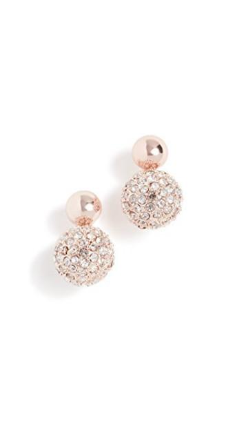 Rebecca Minkoff mini earrings rose gold rose gold jewels