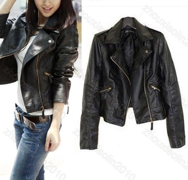 New Slim CoatEbay Jacket Jackets Leather Women WdBeQCoxr