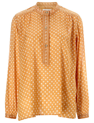 shirt boho cotton yellow