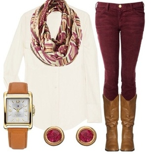 pants white boots scarf earrings shoes shirt