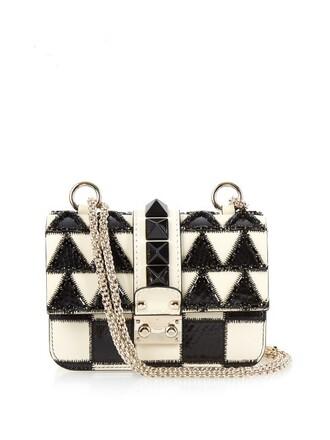 mini bag shoulder bag leather white black