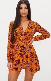 dress,multicolor,mini dress,thigh slit,long sleeve dress,pretty little thing