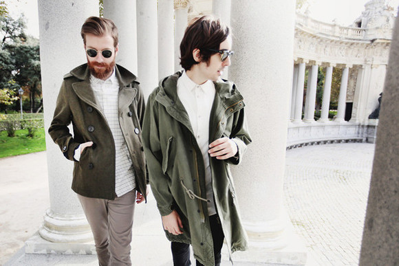 khaki blogger cup of couple menswear hipster menswear
