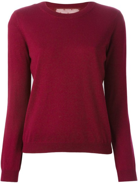 RED VALENTINO jumper women classic silk red sweater