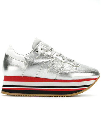 women sneakers platform sneakers leather grey shoes
