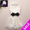 2013 novelty/silk/white/mini/lace puff/pearl/cute/hot selling/belt/bandage/backless/party/prom woman,girls' dress dresses brand