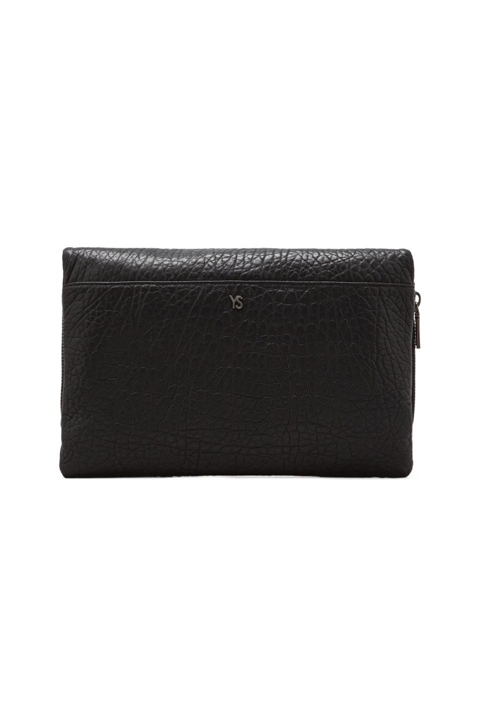 Yosi Samra Blair Studded Foldover Clutch in Black from REVOLVEclothing.com