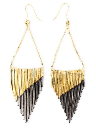 sun metallic women earrings black jewels