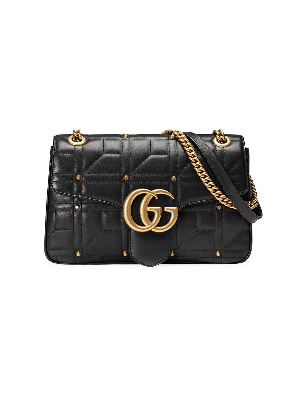 Gucci GG Marmont Matelassé Shoulder Bag Dusty Pink - A