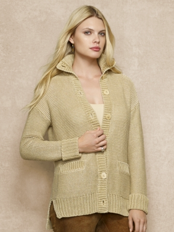 Open-Knit Linen Cardigan - Cardigans  Sweaters - RalphLauren.com