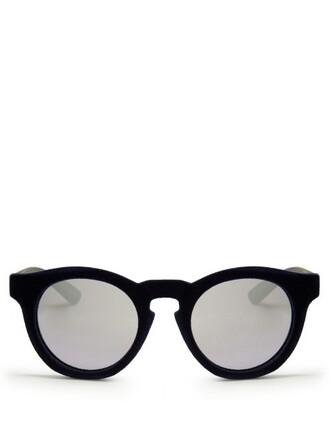 sunglasses mirrored sunglasses velvet navy