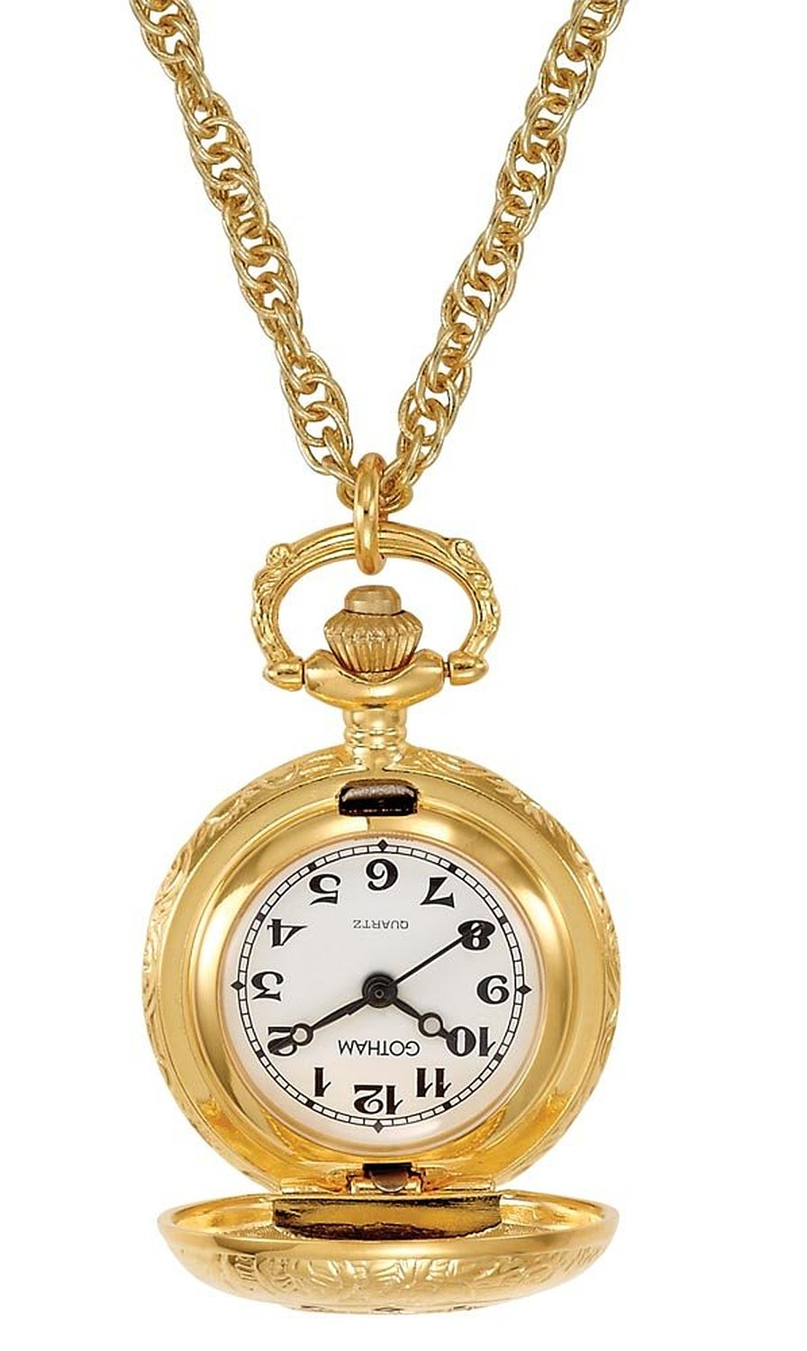 Amazon.com: Gotham Women's Antique Design Gold-Tone Quartz Fashion Pendant Watch # GWC14118G: Watches