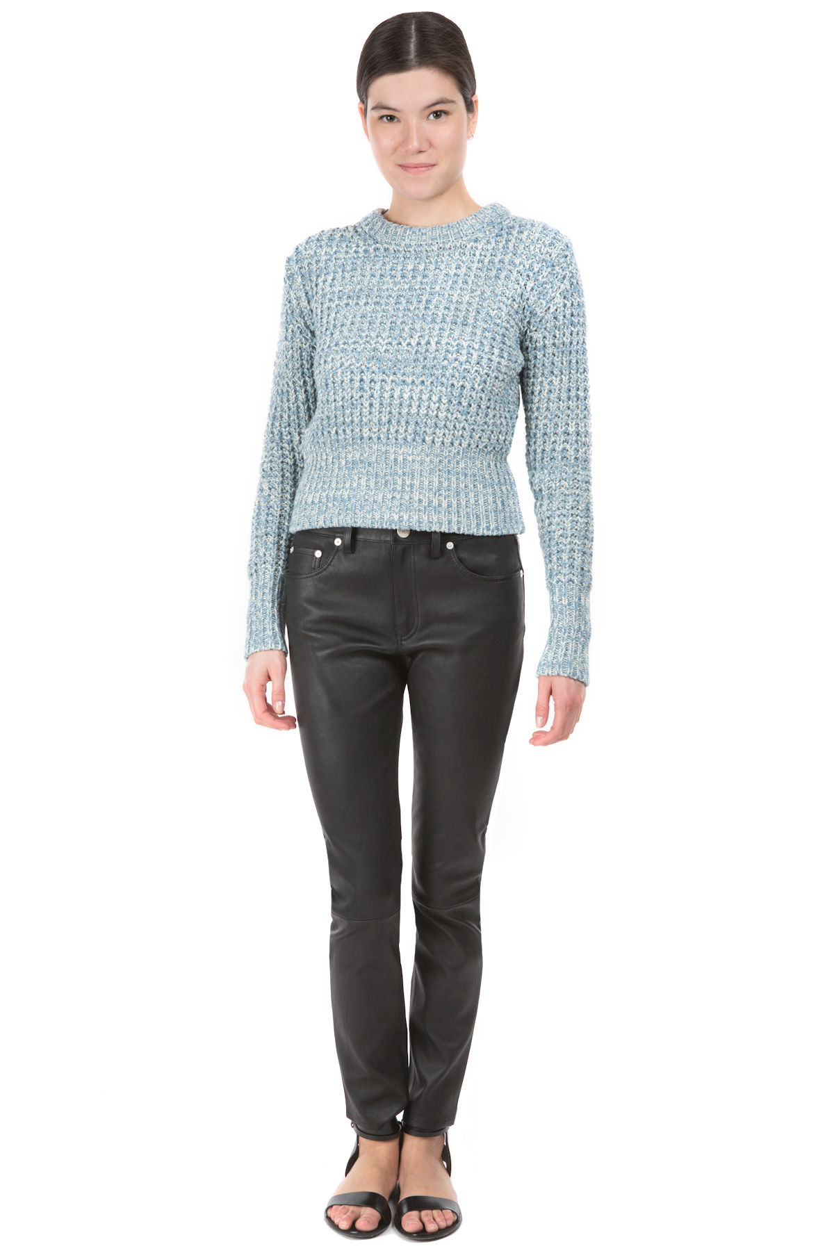 ACNE STUDIOS LIA TWIST KNIT SWEATER - WOMEN - TOPS - SWEATERS & KNITS - ACNE STUDIOS