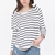 White Black Striped Loose T-Shirt - Sheinside.com