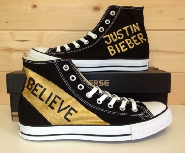 shoes black justin bieber converse