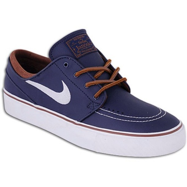 shoes blue leather janoskis nike