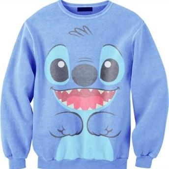 lilo stitch face sweatshirt - Basic tees shop