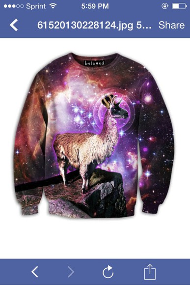 space sweater llama galaxy sweater random